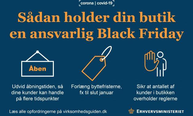 Forsvarlig afvikling af Black Friday